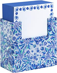 Lilly Pulitzer Blue Note Block with 330 Loose Sheets, High Manetenance