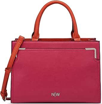 حقيبة يد كلاتش للنساء من ناين ويست، احمر
