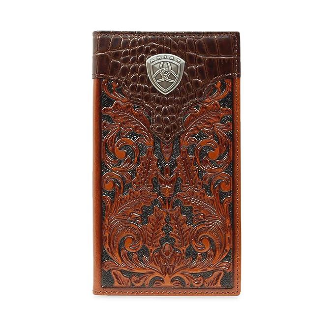 Ariat Mens Oak Embossed Rodeo Wallet