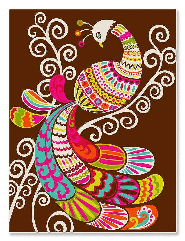 Oopsy Daisy Fine Art for Kids Folk Fairy Tale Peacockストレッチキャンバスアートby Mary Beth Freet 18 by 24-Inch NB2222 18 by 24-Inch  B0089JD146