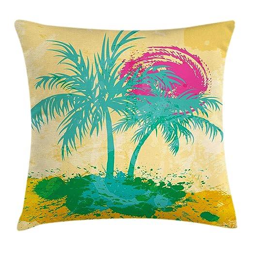 Ambesonne - Funda de cojín de Playa Vintage, ilustración de ...