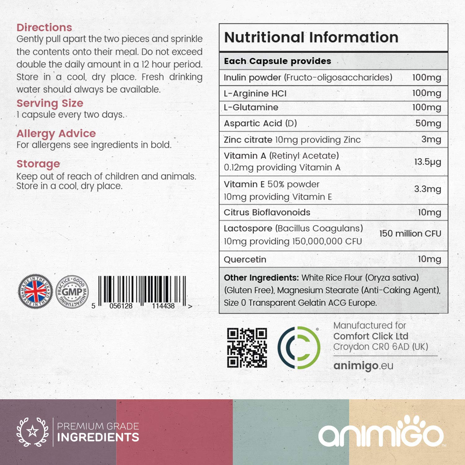 Animigo Digestease for Cats - Premium Digestive Supplement for Cats