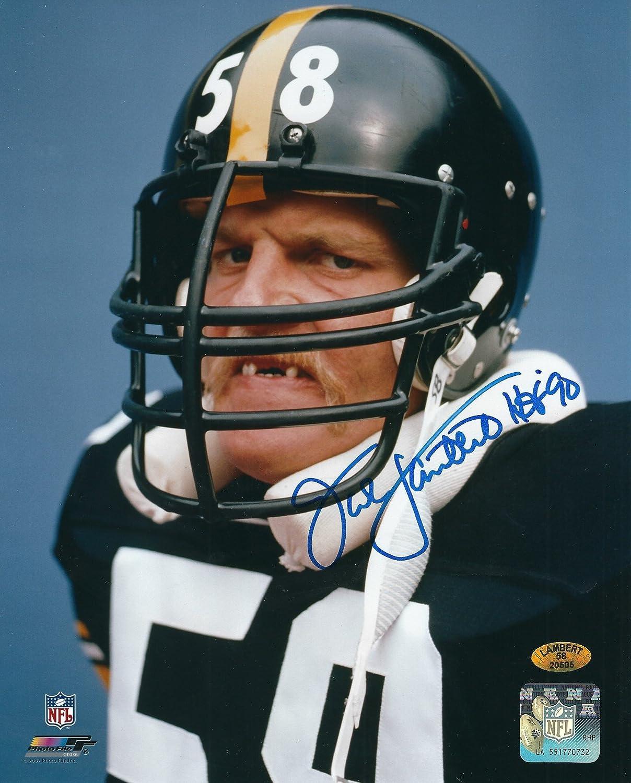 Autographed Jack Lambert HOF 90 Pittsburgh Steelers 8x10 Photo w Lambert Hologram