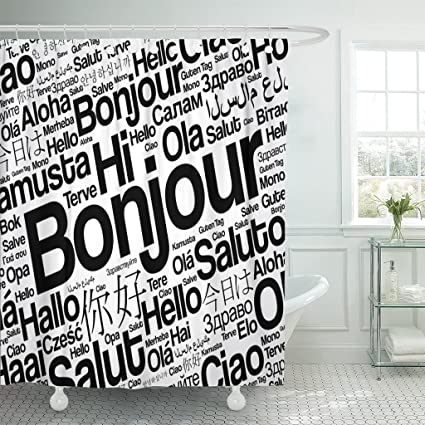 Amazon.com: Emvency Shower Curtain Bonjour o Greeting in ... on french country kitchen cabinets, french country kitchen theme, french country kitchen on a budget, french breakfast room ideas, french country kitchen backsplash, french country kitchen decor, french country kitchen handles, french country kitchen lighting, french country kitchens beautiful, french country small kitchen, french country dream kitchen, french country kitchen accessories, french country granite, french country pantry, french country kitchen table, french country custom kitchen, french kitchen window, french country kitchen curtain, french country modern kitchen, french kitchen looks,