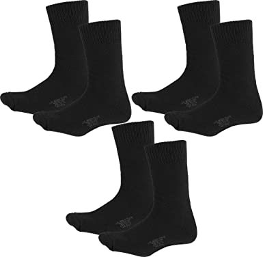 Heavyweight Nylon Cotton US Army Military Thick Thermal Boot Socks - 3 PACK  (Black 3ea1343ac59