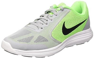 official photos 79036 ae09c Nike Boys  Revolution 3 (GS) Running Shoe, Voltage Green Black