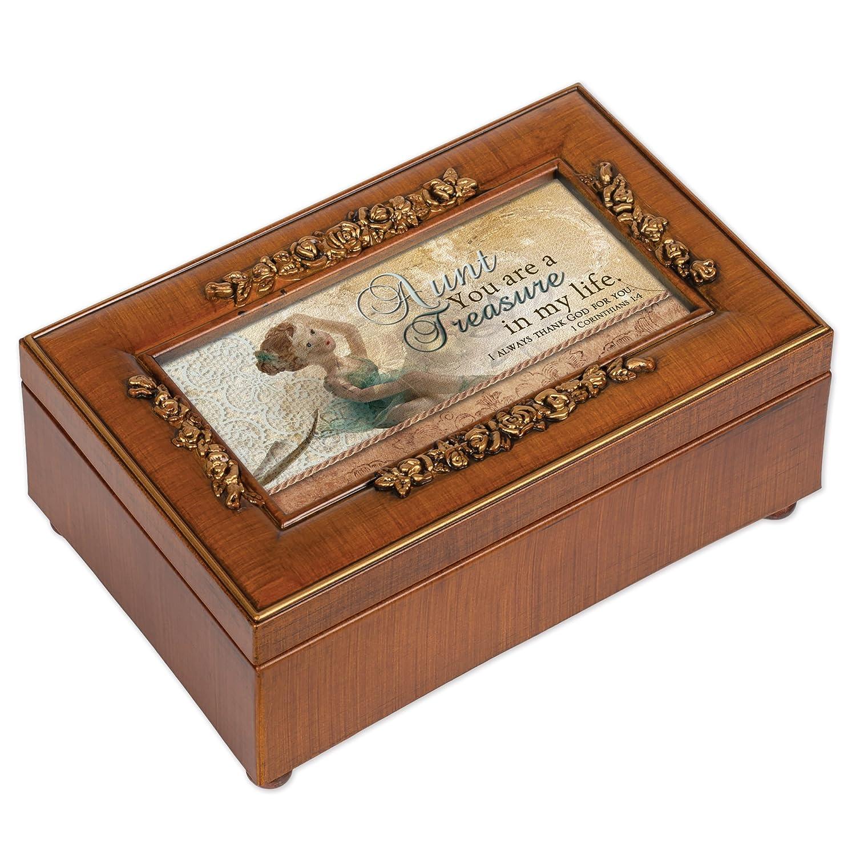 新発売 Cottage Garden Grace Aunt木目調小柄ローズ音楽ボックス Amazing/ジュエリーボックスPlays Amazing Grace Garden B00BRX58S8, バリ雑貨MANJA:0ec84848 --- arcego.dominiotemporario.com