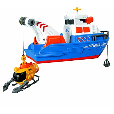 Dickie Toys Light and Sound Explorer Boat: Toys & Games