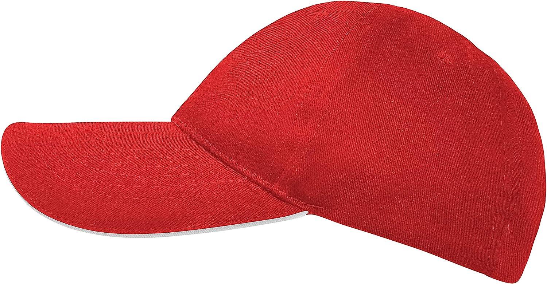 Style Klassische Baseball Cap f/ür Damen und Herren aus Reiner Baumwolle verstellbar Basecap Kappe M/ütze Hut