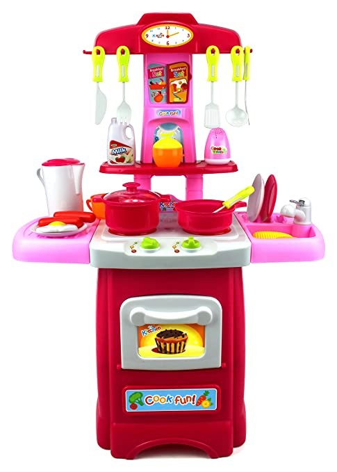 Delicieux Fun Cook Pretend Play Childrenu0027s Toy Kitchen Cooking Playset W/ Toy Food,  Utensils,