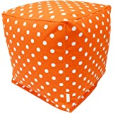 Majestic Home Goods Tangerine Small Polka Dot Cube, Small
