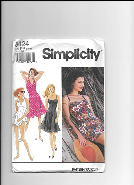 Amazon Simplicity 8424 Sewing Pattern For Knits Fitted Waist