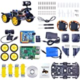 Xiao R Geek DS Wireless Wifi Robot Car Kit for Raspberry pi,Remote Control Hd Camera 8G SD Card Robotics Smart Educational Toy controlled by iOS Android App PC software with Detailed instructions
