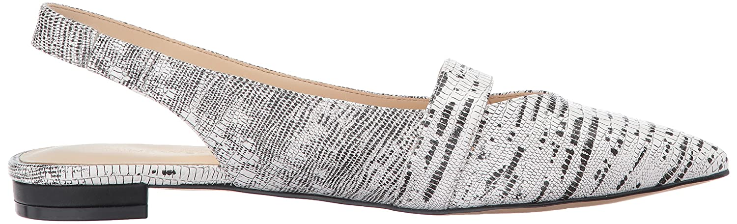 Nine West Women's US|Off Antonio Ballet Flat B01N5A6IG2 12 B(M) US|Off Women's White/Black Synthetic 2fffc9