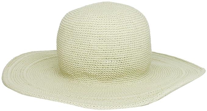 San Diego Hat Company Women s Cotton Crochet 4 Inch Brim Floppy Hat ... e5e652aa3a9