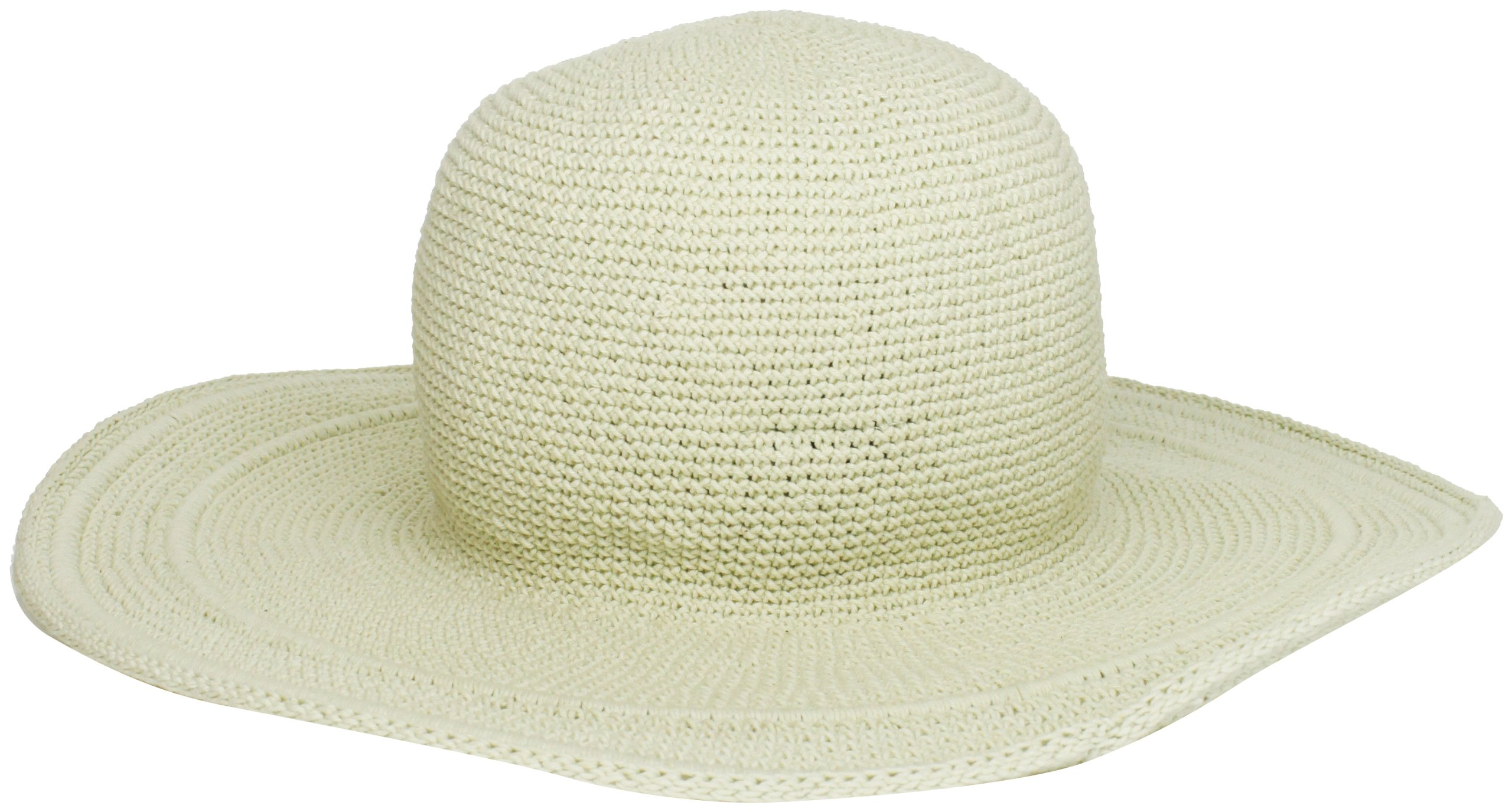 CDM product San Diego Hat Company Women's Cotton Crochet 4 Inch Brim Floppy Hat big image