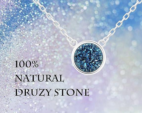 Natural Stone Acrylic Jewelry Simple Jewelry 6 Stone Pendant Necklace Bezel Jewelry Imperfect Jewelry Metal Jewelry