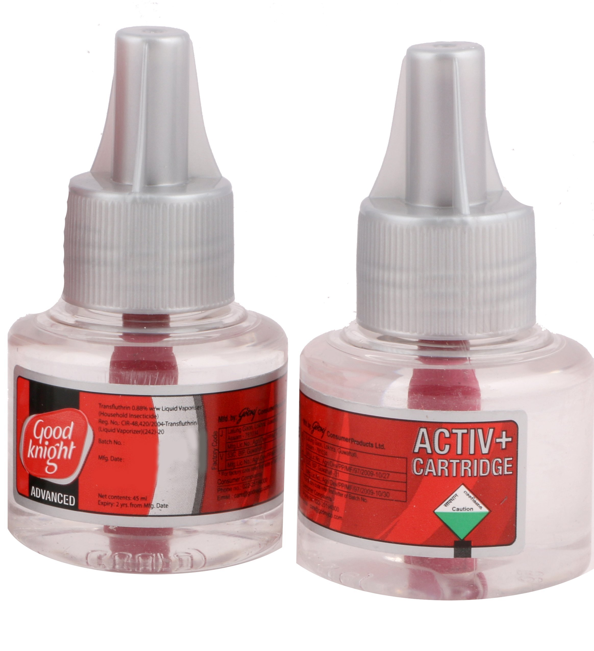 Good knight Activ+ Liquid Refill, 45ml (Pack of 2) Red product image
