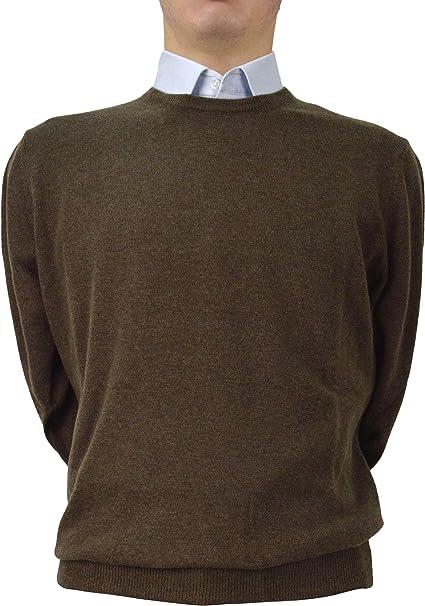 f91c495a61 Iacobellis Maglione Uomo Pullover Paricollo Cashmere Lana Merinos Extrafine  Made in Italy