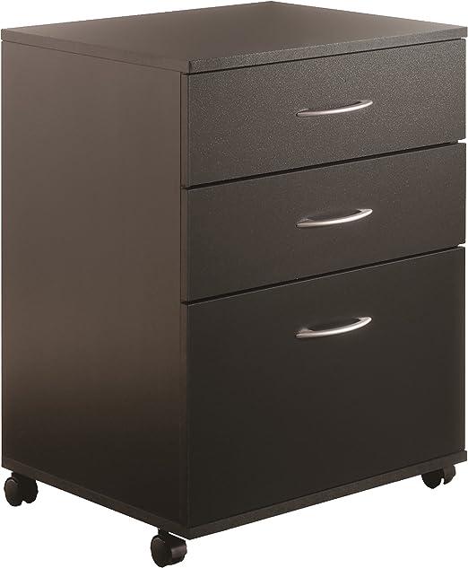 Amazon Com Essentials 3 Drawer Mobile Filing Cabinet From Nexera Black Furniture Decor