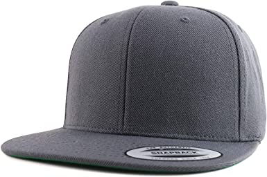NEW PLAIN TRUCKER MESH SNAPBACK BASEBALL CAP FLEXFIT ERA FITTED FLAT PEAK HAT