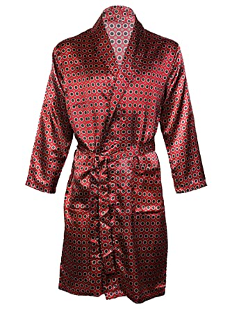 Harvey James Men\'s Satin Dressing Gown Robes Kimono, Satin Pyjama ...