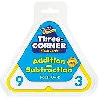 Trend Enterprises Addition and Subtraction 3 Corner Flash Cards