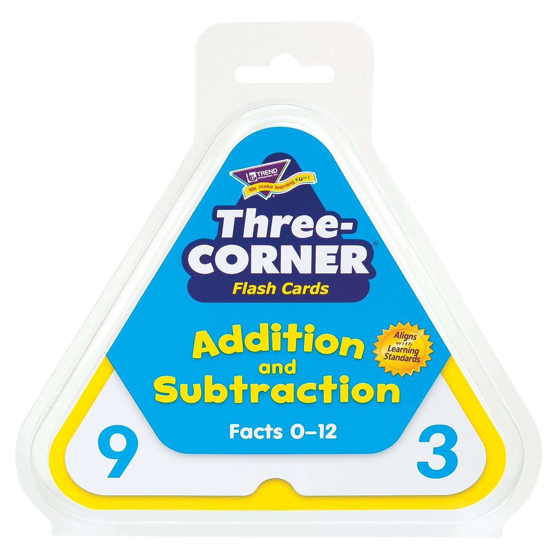 Trend Enterprises Addition and Subtraction 3 Corner Flash Cards T1670