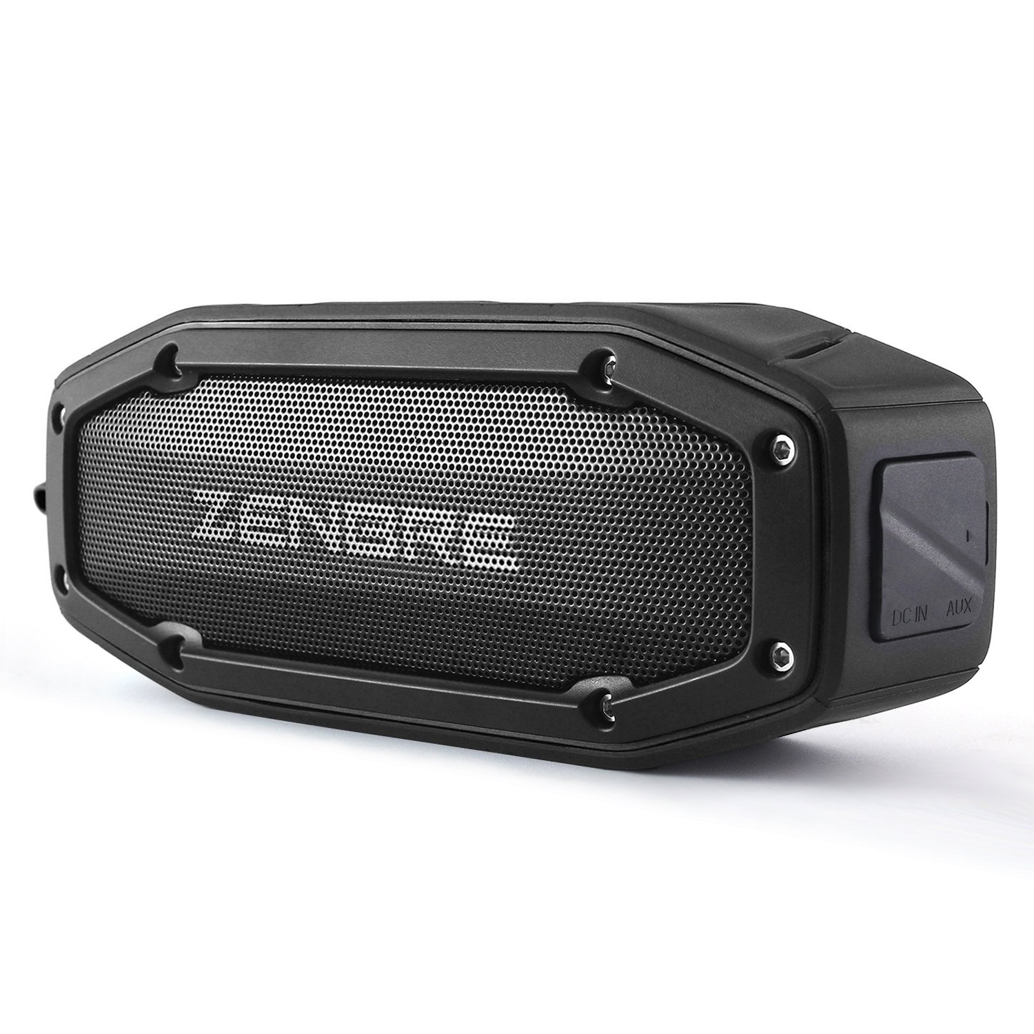 ZENBRE Bluetooth Speakers, D6 Bluetooth 4.1 Waterproof IPX6 with 18H Play-Time, 10W Dual Driver with Bass Resonator, Handsfree Calling, Shockproof Portable Speaker(Black)