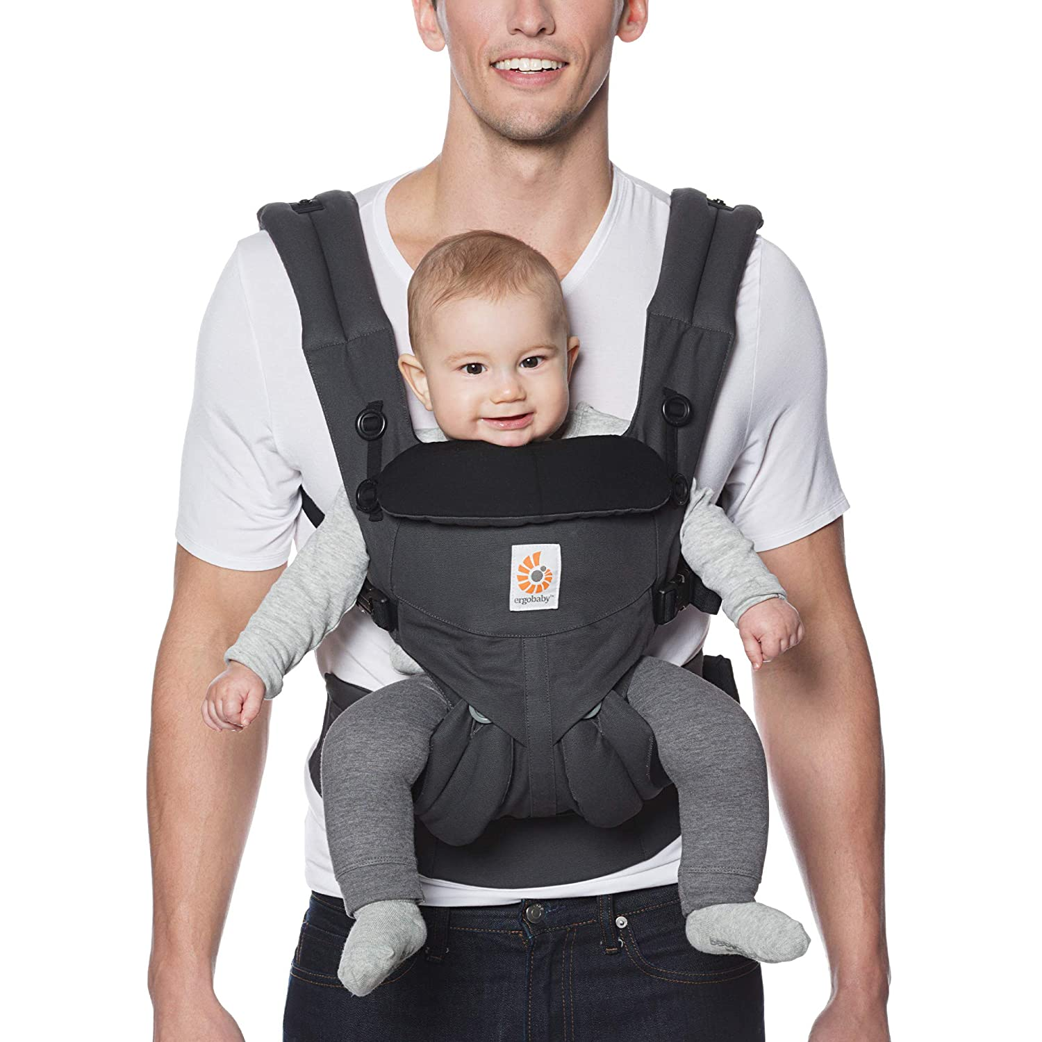 Ergobaby Carrier Omni 360 All Carry Positions Baby Carrier Charcoal
