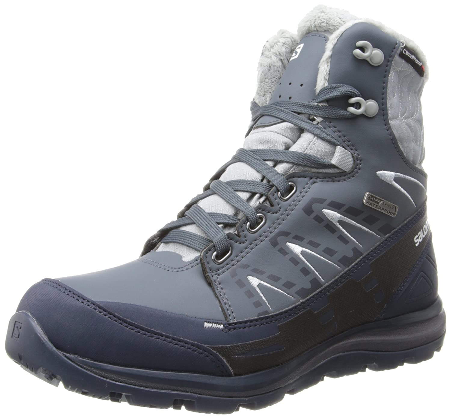 Salomon Kaina CS WP W Winterschuh 366803 (Black/Asphalt/Flashy-X) Gr. 40 (UK 6,5)