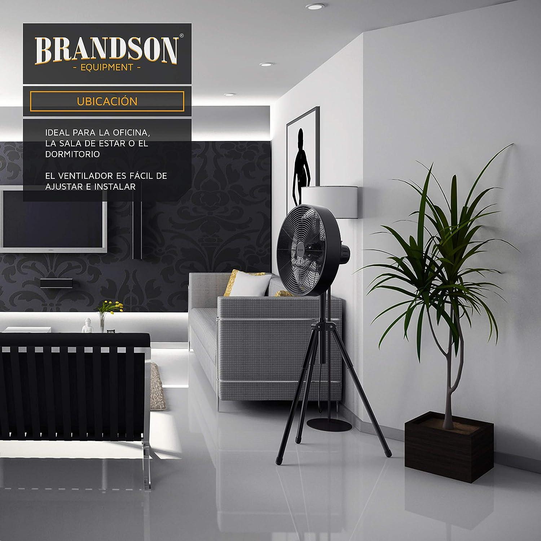 Brandson - Ventilador de pie - Elevado caudal de Aire - 3 ...