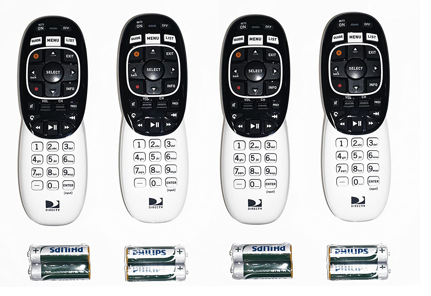 Lot Of 4 Directv Rc73 Remote Controls For Genie Hr34 Hr44 All Hd