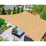 AsterOutdoor Sun Shade Sail Rectangle 16' x 20' UV Block Canopy for Patio Backyard Lawn Garden Outdoor Activities, Sand