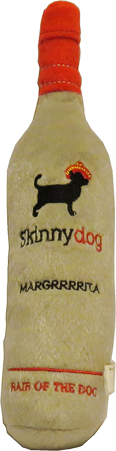 Dog Diggin Designs Libation Station Collection | Unique Squeaky Parody Plush Dog Toys – Shaken, Not Stirred