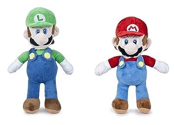Super Mario - Pack peluche Mario 60cm + Luigi 65cm Calidad super soft