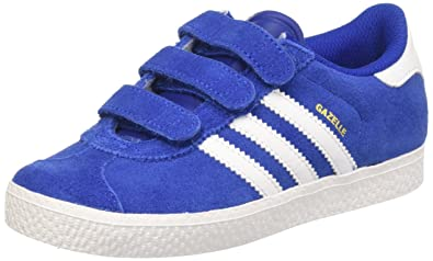 adidas Unisex Kids' Gazelle 2 Trainers, Blue (Collegiate Royal FTWR White),