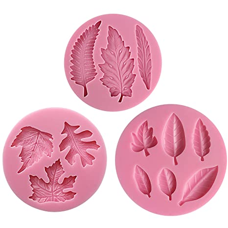 Baking Accessories and Cake Decorating Leaves leaf set Silicone Mould Fimo Sugarcraft Cupcake Topper Decorating Cake