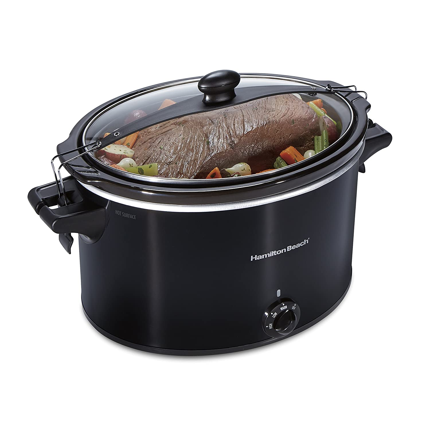 Hamilton Beach 33195 Extra-Large Stay or Go Slow Cooker 10 Quart Capacity Black