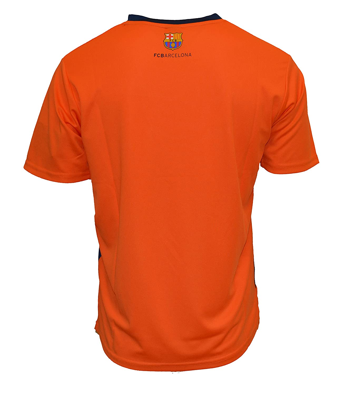 d892e2fcea0 Amazon.com   Fc Barcelona Adult Training Jersey Performance Polyester - Shirts - Home -Away (3-ORANGE T1E24