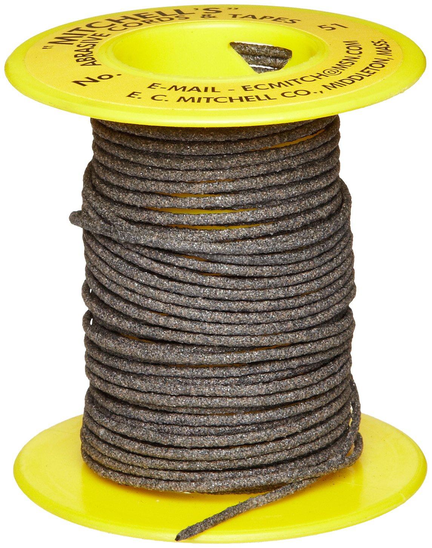 Mitchell Abrasives 51 Round Abrasive Cord, Aluminum Oxide 120 Grit .055'' Diameter x 50 Feet by Mitchell Abrasives