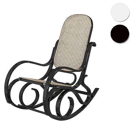 Due-Home - Mecedora sillón balancin, Acabado en Negro Brillo Lacado, Medidas: ↔ 92,5 ↕ 67 ↗ 11,5 cm