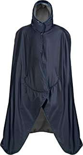 product image for Mambe Extreme Weather 100% Waterproof/Windproof Hooded Blanket with Premium Stuff Sack (Size: Large, Navy-Charcoal)