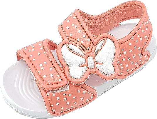 Taille 7-10,5 Chaussures /à sandales durables Tongs pour enfants et filles avec n/œud