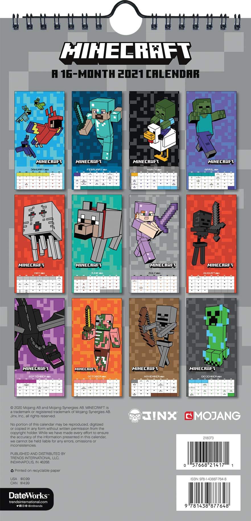 Minecraft 8 Calendar: Amazon.de: Trends: Fremdsprachige Bücher