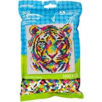 Perler Beads Rainbow Tiger Pattern and Fuse Bead Kit, 11'' X 11'', 3503Pc