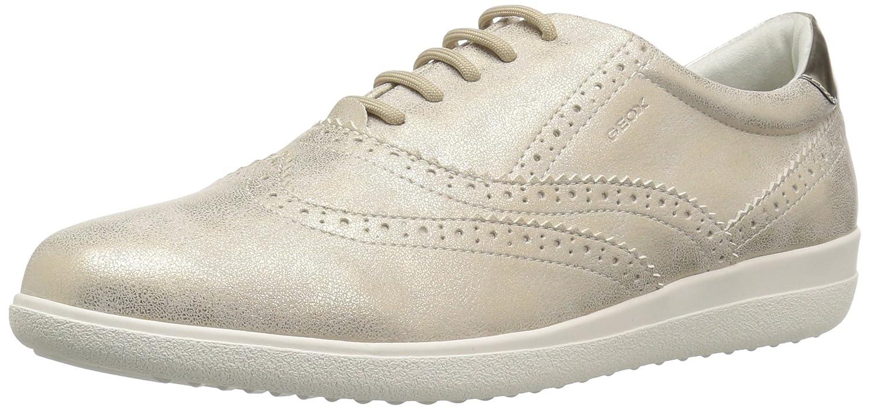 Geox Women's Nihal 2 Sneaker B073HRHDCG 39 M EU (9 US)|Champagne/Beige
