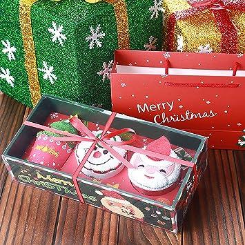 D Roc Handtuch Set Weihnachtsmann Schneemann Weihnachtsbaum Kuchen