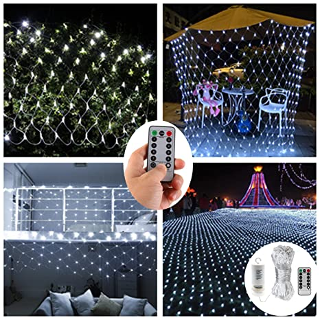 dealbeta led net lights with remote98ft x 66ft 200 leds net mesh