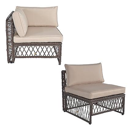 Amazon.com: GOJOOASIS - Juego de muebles seccionales de ...
